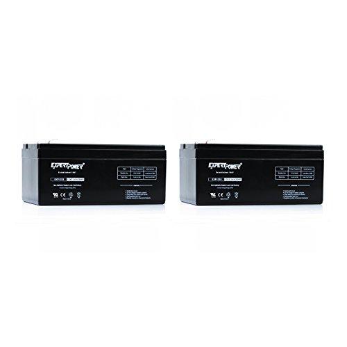 2-Pack ExpertPower 12v 3.3ah Rechargeable Sealed Lead Acid Battery || replaces APC Back UPS ES 350 RBC35 WP3-12 BP3-12 BP3.6-12 CF12V2.6 CFM12V3 CP1232