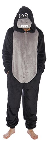 #followme Gorilla Adult Onesie Pajamas (X-Large, Gorilla)