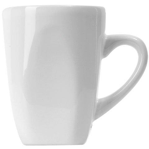Stoneware Collection Contemporary White Coffee Mug, 12oz, Set of 4 Basic White Mugs (Contemporary Coffee Mugs)