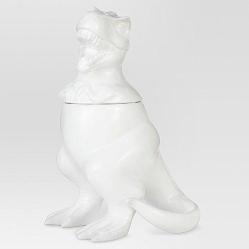 T-Rex Cookie Jar Stoneware Matte White 12