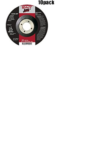 Sait 22021 10 Pk 4-1/2 Inch X 7/8 Inch X 0.045 Inch Metal Cutting Wheel ()