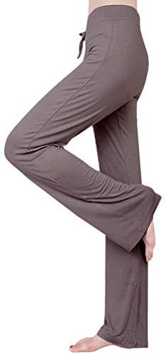 Pants Lounge Ash - ARJOSA Women's Drawstring Lounge Bootleg Yoga Pants Workout Dance Leggings (S, Ash Grey)