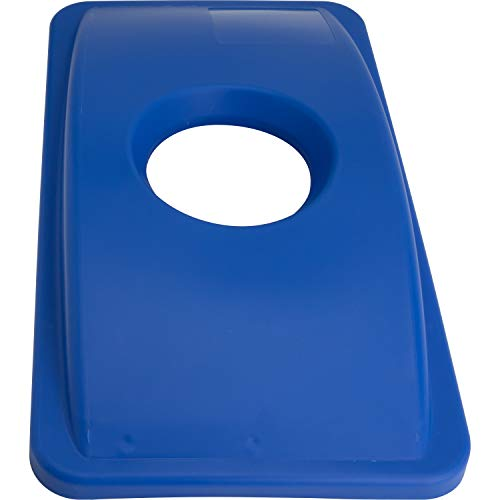 Genuine Joe 98219 23-Gal Recycling Bin Round Cutout Lid
