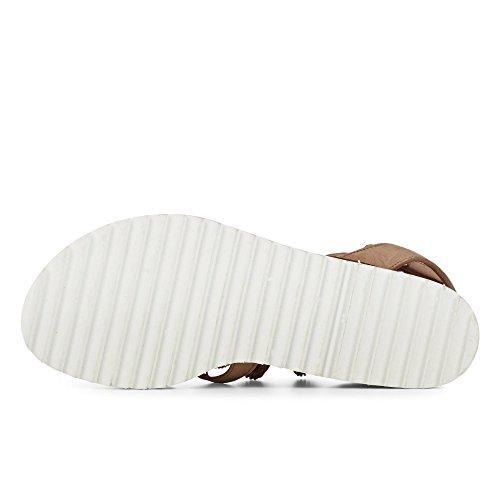 Paul Green 6084-009 Damen Sandale Aus Feinstem Nubukleder Lederinnenausstattung Beige