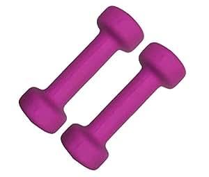 Gym Exercise Cardio Aerobic Training Fitness Neoprene Coated Dumbbells, 1 Kg x 2 Pcs