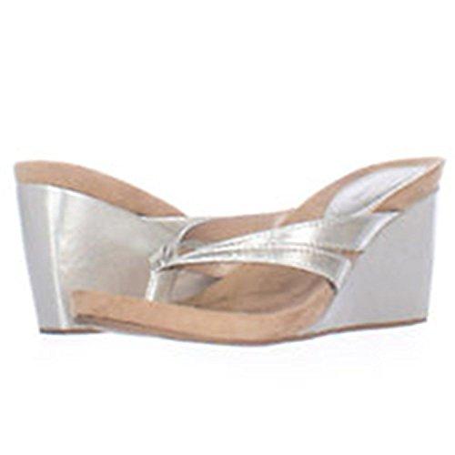 Style & Co. Cassiee - Sandalias de vestir de Material Sintético para mujer plateado plata plata