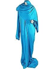 ملابس صلاة - لون تركواز- مع حافظة مصحف - قطن- نساء