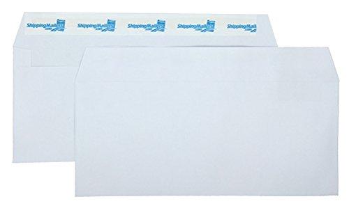 ((1000) ShippingMailers Brand 4 1/8 x 9 1/2 White #10 Envelopes/w Self Adhesive Flap)