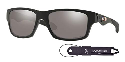 Oakley Jupiter Squared OO9135 913533 56M Matte Black/Prizm Black Sunglasses For Men+BUNDLE with Oakley Accessory Leash Kit