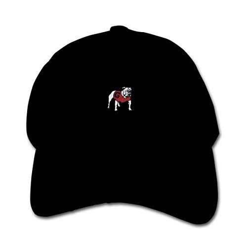 Huyuadu Youth Childrens Cotton Cap Plain Hat Baseball Georgia Bulldogs Hats ()