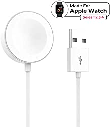 Product description ◊ This apple watch charging is compatibility (all 38mm 40mm 42mm 44mm version). ◊ This apple watch charging with magnetic charging module, hold the charger close to the back of the watch and the magnet will automatically connect i...