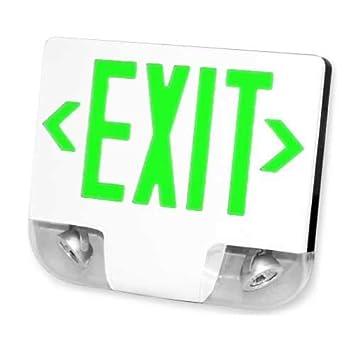 Amazon.com: Luz de salida y combo de emergencia de alta ...
