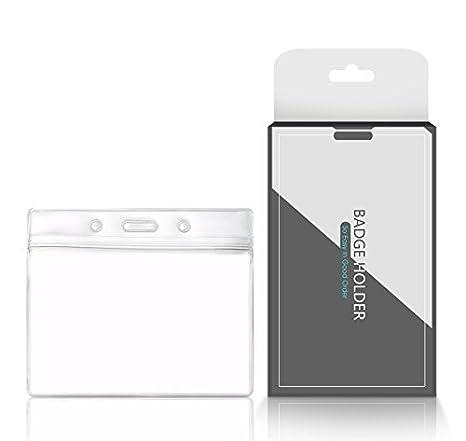 Amazon.com: ceydey ID Badge Holders y cordones vertical PVC ...
