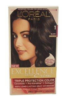 Exc H/C Blk #1 Size Ict L'Oreal Excellence Creme Hair Color Black #1 -  L'Oreal Paris, A035-39