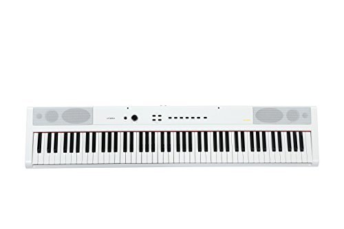 Artesia PA-88W Digital Piano (White) 88-Key With 12 Dynamic Voices and Semi-weighted Action + Power Supply + Sustain Pedal