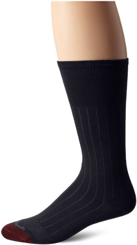 Allen Edmonds Men's Cotton Rib Mid Calf Socks, Navy, Sock Size:10-13/Shoe Size: 6-12/Standard ()