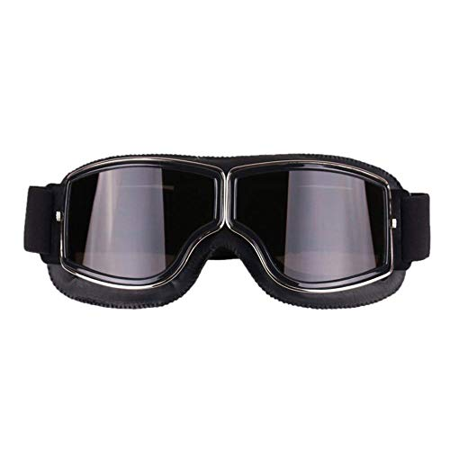 zowam Motorradbrille, UV-Schutz, winddicht, Dirt-Bike-Brille mit Gummiband, Anti-Beschlag- und Kratzfeste Reitbrille…