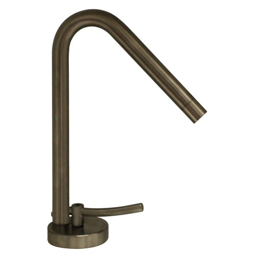 Metrohaus Metrohaus Single Hole - Whitehaus WH81211-BN-PVD Metrohaus 4 5/8-Inch Single Hole Faucet with 45-Degree Swivel Spout, Lever Handle and Pop-Up Waste, Brushed Nickel-Pvd