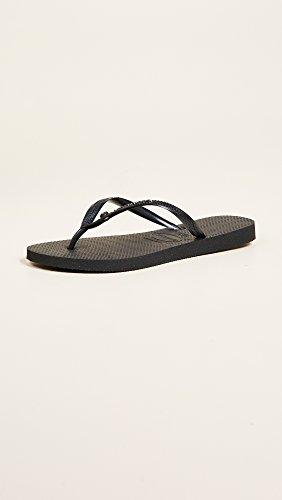 Flip Glamour Havaianas Flop Women's Sandals Slim Sw Black Crystal ZqnxwPnEUY