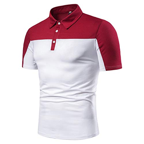 Men's Golf Polo Shirt,MmNote Workout Shirt Moisture Wicking Performance Active Performance Sports Button White ()