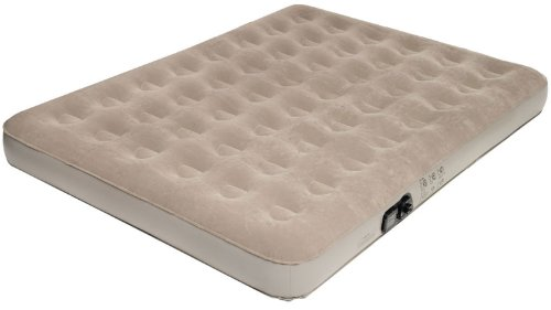 Pure Comfort Low Profile Suede Top Air Bed with Built in Pump (Tan, Queen), Outdoor Stuffs