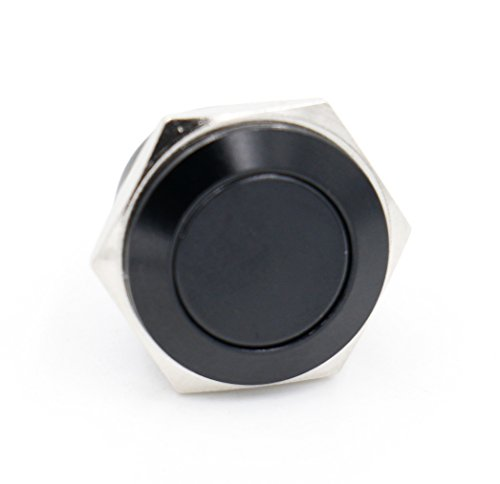 Pin 0.625 Baby (Baomain Steel Momentary Push Button Switch Black 16mm Threaded Dia SPST 2 Pin terminal)