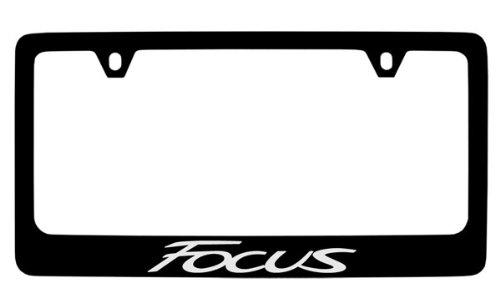 Ford Focus Black Coated Metal License Plate Frame Holder Baronlfi