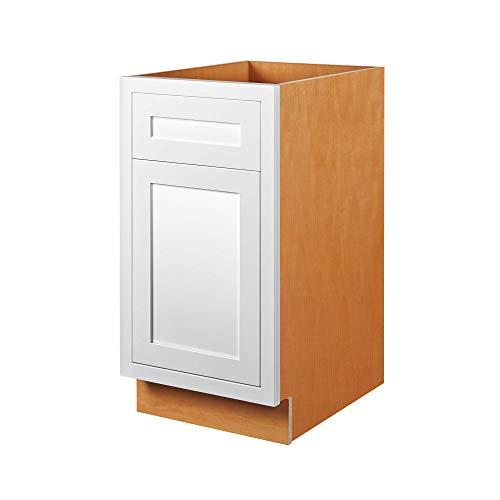 15-Inch Birch Wood Inset Modern Shaker Style Base Storage Cabinet for Kitchen or Bathroom ()