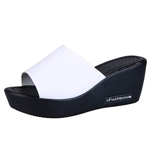 White Anti Femme Sandales YUCH Épaisses Slip Slip aA7qOvOW
