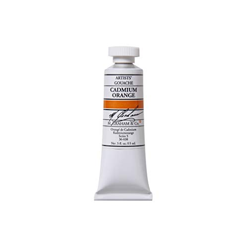 M. Graham 1/2-Ounce Tube Gouache Paint, Cadmium Orange