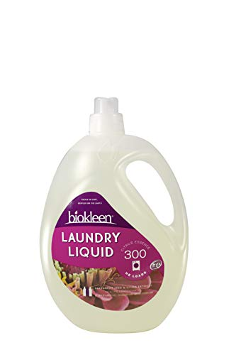 (Biokleen Laundry Detergent Liquid, Concentrated, Eco-Friendly, Non-Toxic, Plant-Based, No Artificial Fragrance, Colors or Preservatives, Citrus Essence, 150 Ounces - 300 HE Loads/150 Standard Loads)
