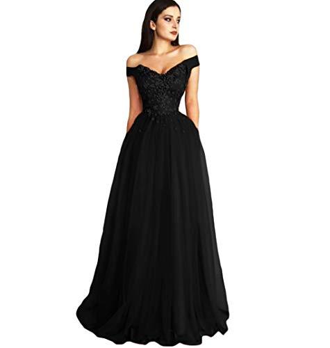 49debb955c Dymaisei Women s Lace Appliques Prom Dresses 2019 Off Shoulder Long Evening  Formal Dress