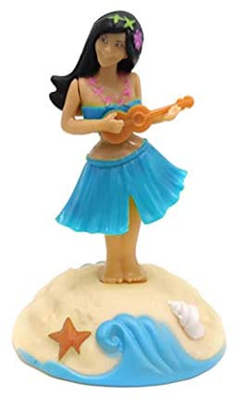 Hula Girl DashboardSolar PalDansende Figuren Dansen Hawaii Meisje Auto Dashboard Decoratie Ornament Voor De Vensterbank Auto Bureau Gewoon