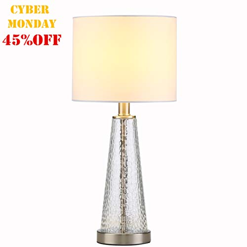 Lamp Glass Table Glass - Tayanuc Elegant Bedside Metal and Glass Table Lamp,20