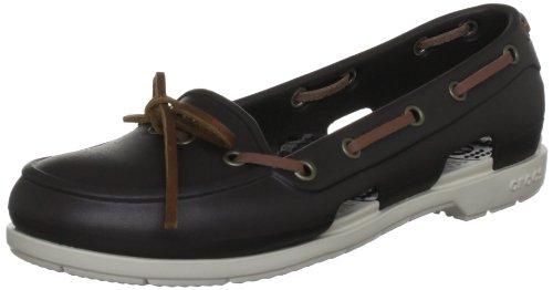 Crocs Beach Line Boat Shoe Women, Chaussures bateau femme Marron (Espresso/Stucco)