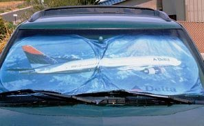 Delta Airlines 777 Airplane Automobile Sunshade Visor by Flight Miniatures