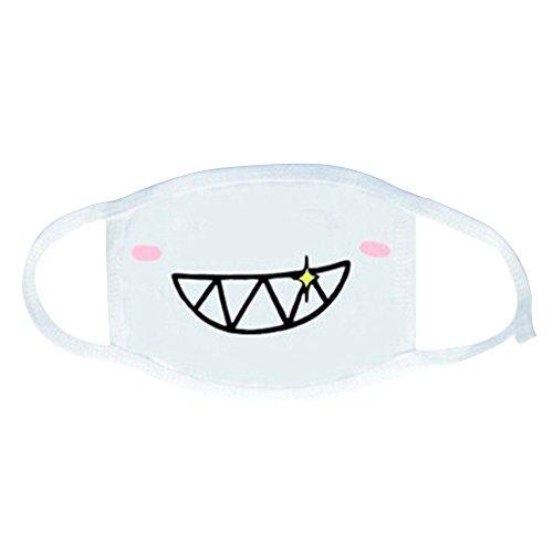 Gaweb White Anime Emoticon Mouth-Muffle Kaomoji Anti-Dust Cute