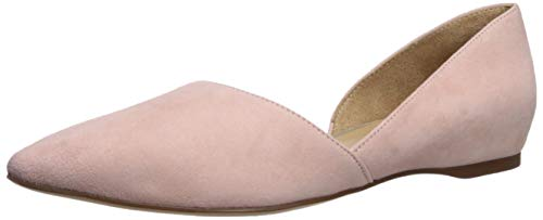 Naturalizer Women's Samantha Pointed Toe Flat, Rose Pink, 9.5 W US