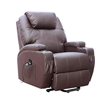 La Boutique del Hogar Sillón de Masaje Levantapersonas Venti Cinema Lift V-L103 (Marrón Chocolate)