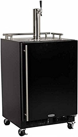 Marvel ML24BTSMRB Mobile Draft Beer Dispenser Double Tap Black Door, 24