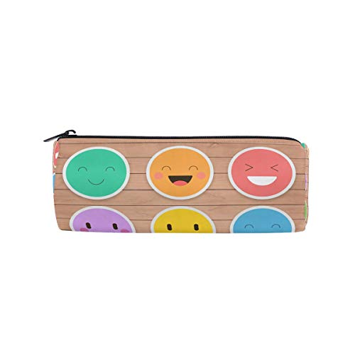 JERECY Funny Emoticon Emoji Pencil Case Pouch Bag School Stationery Pen Box Zipper Cosmetic Makeup Bag -