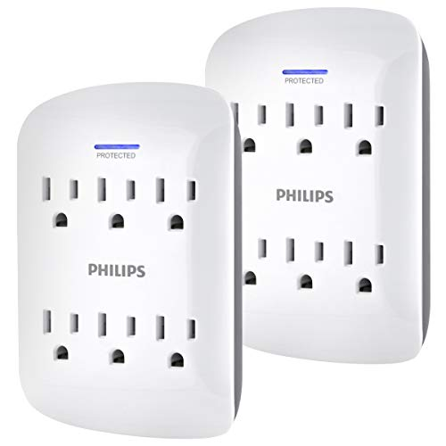 PHILIPS 6-Outlet Surge Protector