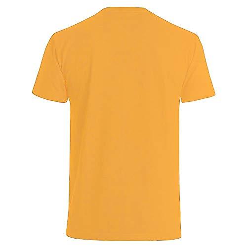 amarillo hombre de shorties a logo texto oro para os de y camiseta 40 Cuadro de con FBZn0q
