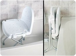 Amazon.com: Folding Shower Chair with Back: Health & Personal Care