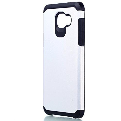 Samsung Galaxy A5 (2016) A510 Funda, TOTOOSE para Samsung Galaxy A5 (2016) A510 Ultra delgado Lightweight Antideslizante Shockproof Teléfono Back Funda Alto impacto Doble capa 2 in 1 Armadura Defender Plata