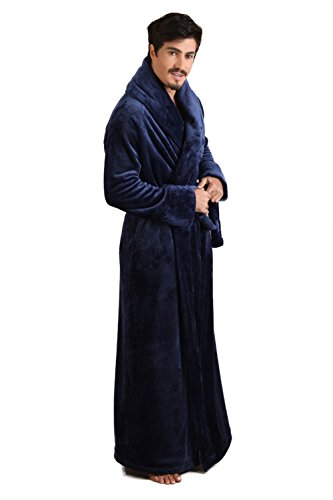 7 VEILS Women Flannel Ultra Long Floor Length Bathrobes c61f30101