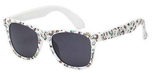 WebDeals - Kids Childrens 80's Classic Retro Sunglasses Assorted Colors (Unicorn White, - Unicorn Sunglasses