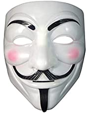 BSMEAN Hacker Mask,Anonymous Mask,Halloween Mask,V for Vendetta Mask,Game Master Mask,Costume Cosplay Mask for Teens/Adult