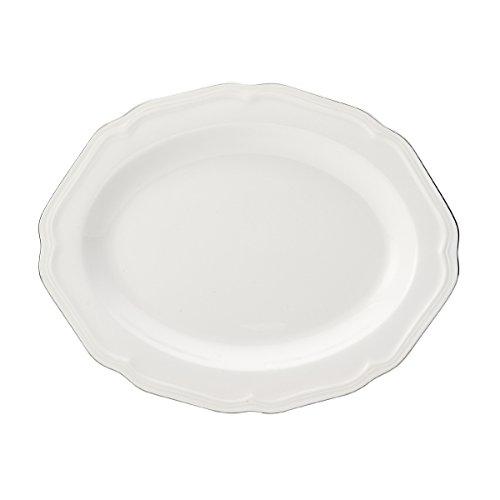 Mikasa Antique White Platinum Oval Serving Platter, 13.75-Inch