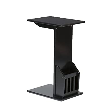 Magazine Snack Table - Black